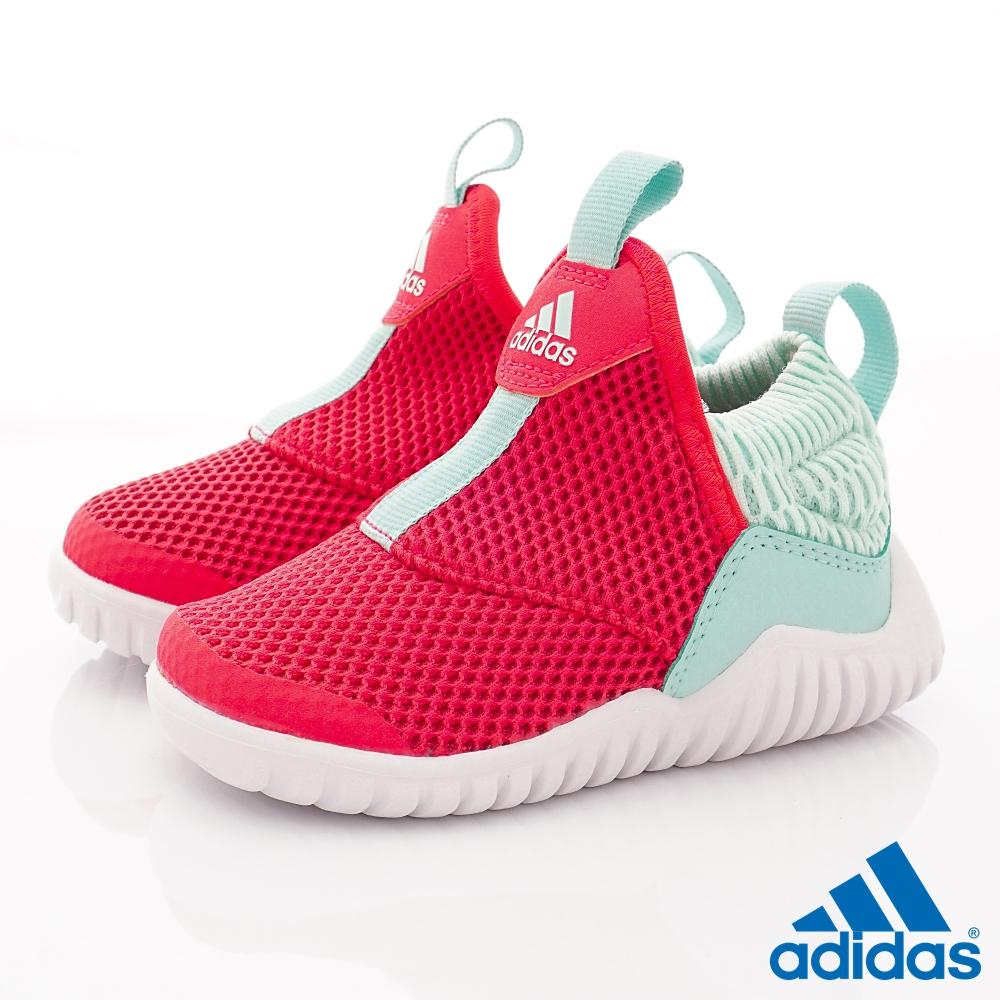 adidas童鞋 簡約輕便休閒鞋款 NI6851紅藍(小童段)