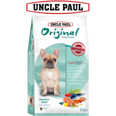 UNCLE PAUL 保羅叔叔田園生機狗食 10kg 低敏成犬 室內 短鼻犬