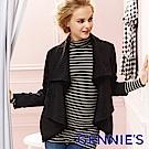 Gennies專櫃-率性層次感羊毛外套(黑)H6809