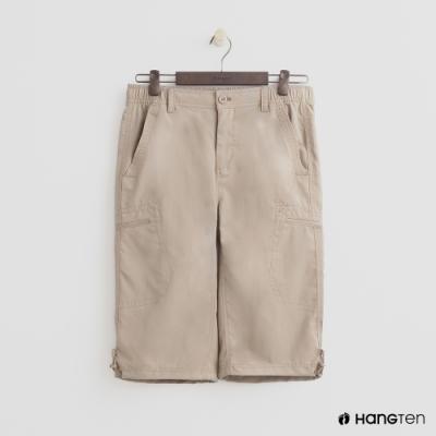 Hang Ten - 男裝 - ThermoContro-機能束口五分褲 - 卡其