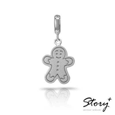 STORY故事銀飾-X mas系列-Gingerbread Man薑餅人 扣扣墜飾