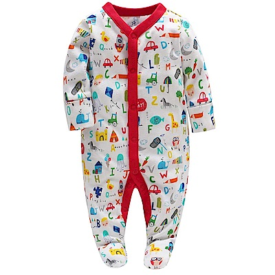 Baby unicorn 彩色字母長袖包腳連身衣