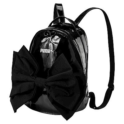 PUMA-女性蝴蝶結造型後背包-黑色