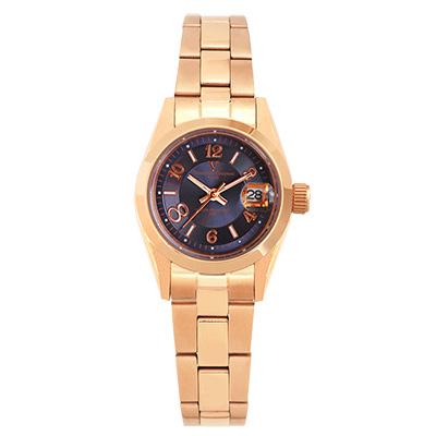 Valentino Coupeau 范倫鐵諾 古柏 都會數字腕錶 (全玫/藍面/女錶)