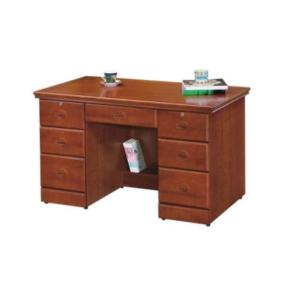 柏蒂家居-路德4.2尺實木辦公桌/書桌/工作桌-126x65x80cm