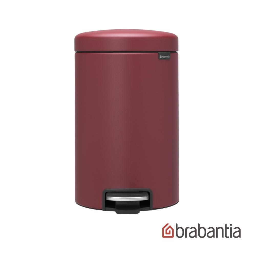 【Brabantia】NEWICON環保垃圾桶-12L溫莎紅