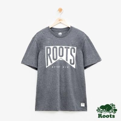 男裝Roots 山峰短袖T恤-灰色