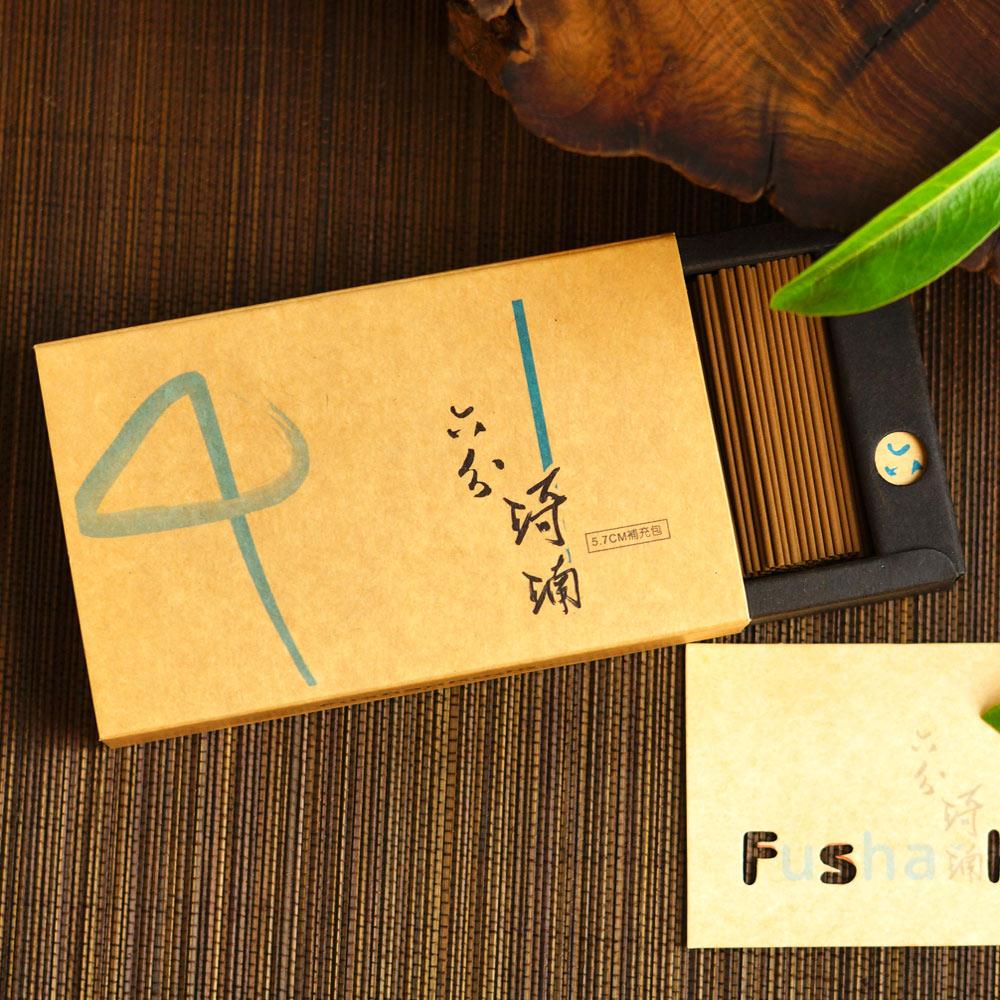 Fushankodo富山香堂-聚財化煞擋煞、除障除晦、轉運開智慧印尼沉香_六分琦楠57臥香補充包