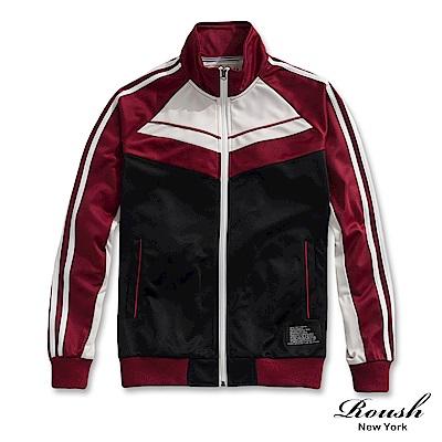 Roush 古著設計復古運動外套(2色)