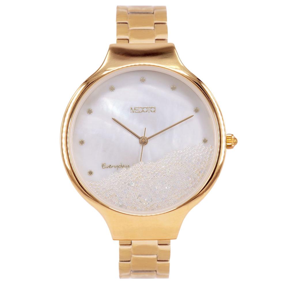 MEDOTA Ladies系列流沙雙層殼不鏽鋼錶帶女錶 / MI-9502