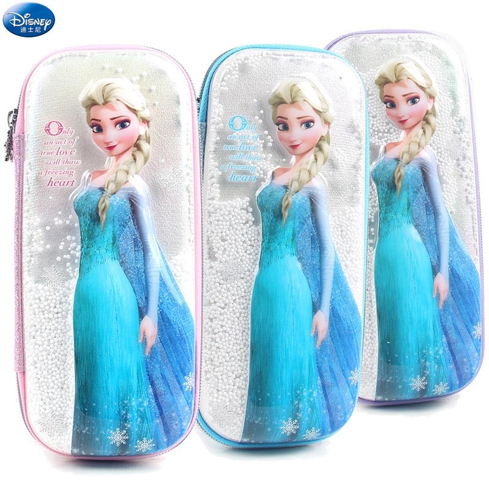 迪士尼冰雪奇緣 流沙3D立體鉛筆盒筆袋