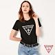 GUESS-女裝-白色浮雕倒三角LOGO短T,T恤-黑 原價1290 product thumbnail 1