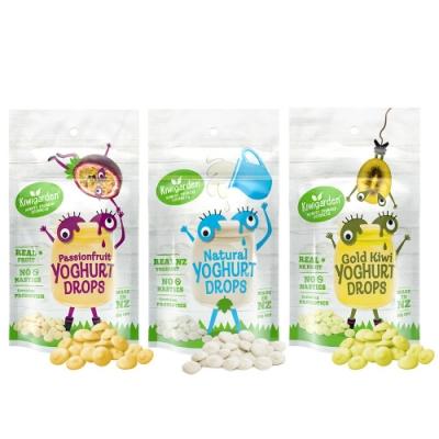 【紐西蘭 Kiwigarden】益菌優格豆 20g/袋*3袋(原味+百香果+奇異果各1包)