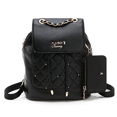 PLAYBOY- 後背包  法國晶鑽系列 -黑色