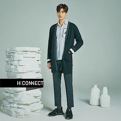 H:CONNECT 韓國品牌 男裝-滾邊雙口袋開襟外套-灰