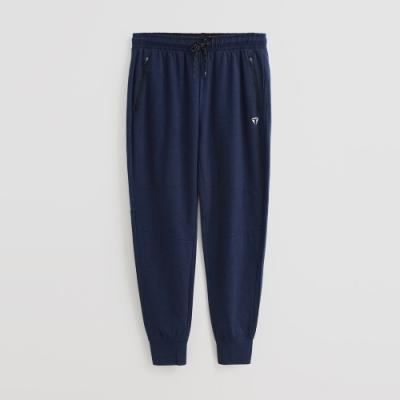 Hang Ten - 男裝 -ThermoContro-腰部鬆緊抽繩休閒長褲-藍