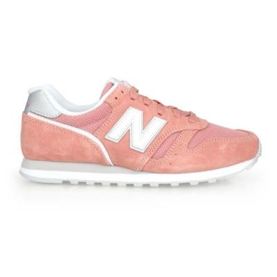 NEWBALANCE 女復古慢跑鞋-麂皮 373系列 NB N字鞋 標準楦 WL373AC2 珊瑚紅白銀