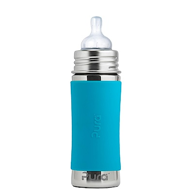美國Pura不鏽鋼環保成長瓶 325ml 幼兒奶嘴 (粉/藍) 附保護套