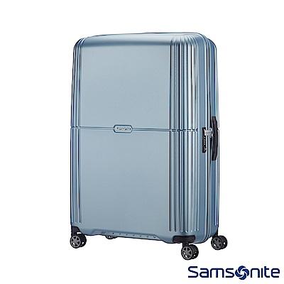 Samsonite新秀麗 25吋Orfeo 簡約方正線條PC嵌入式TSA海關鎖行李箱(銀藍