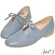 Ann'S超柔軟綿羊皮-芭蕾蝴蝶結兩穿穆勒平底便鞋-藍 product thumbnail 1