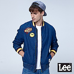 LEE X SMILEY聯名牛仔棒球外套