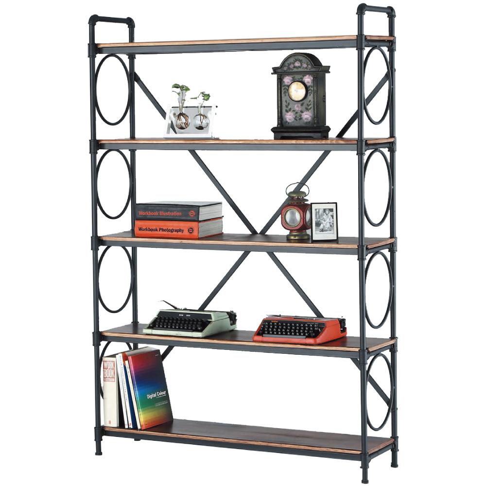 文創集 博斯時尚4尺開放式書櫃/收納櫃-120x35x179cm免組
