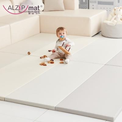 【ALZiPmat】韓國手工製 時尚經典四折折疊墊 - 經典時尚灰