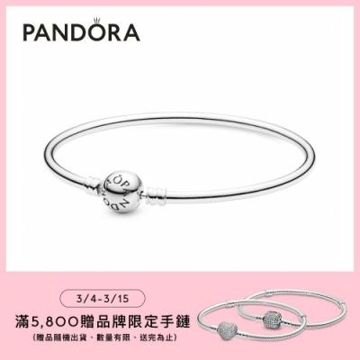 【Pandora官方直營】Moments釦頭手環