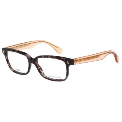 FENDI 時尚光學眼鏡 (豹紋色)FF0035