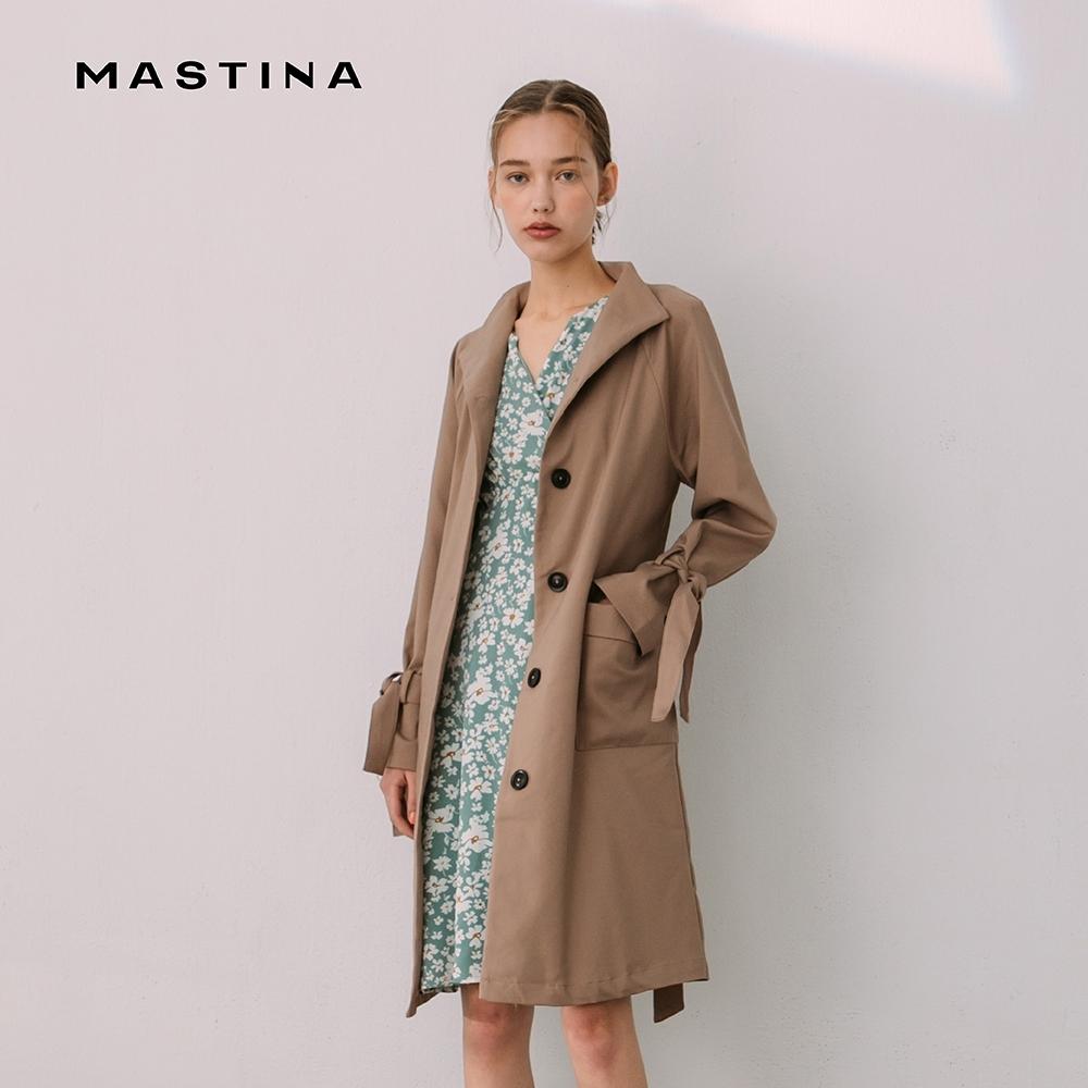 【MASTINA】立領修身長版風衣-外套 (三色/魅力商品)