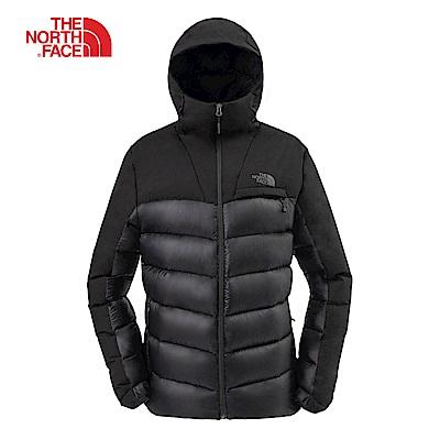 The North Face北面男款黑色保暖防潑水羽絨外套|3KTDKX7