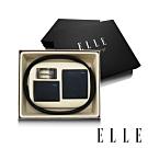 ELLE HOMME 男爵系列-真皮皮夾+名片夾+皮帶禮盒-三件組A9001