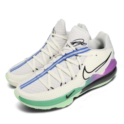 Nike 籃球鞋 Lebron XVII Low 運動 男鞋 氣墊 避震 包覆 明星款 反光 球鞋 綠 灰 CD5006005