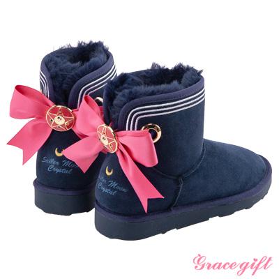 Grace gift-美少女戰士蝴蝶結變身器雪靴 深藍