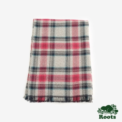 配件Roots 坎伯蘭格紋圍巾-灰