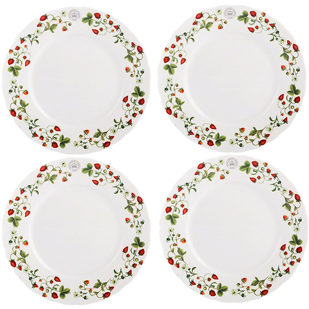CreativeTops Kew淺餐盤4入(草莓莊園19cm)