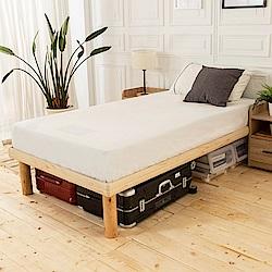 時尚屋 佐野3.5尺高腳加大單人床(不含床頭櫃-床墊)