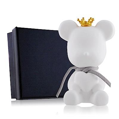 OPretty 歐沛媞 室內/車用 香氛擴香石掛飾-灰色彩繩皇冠抱心熊