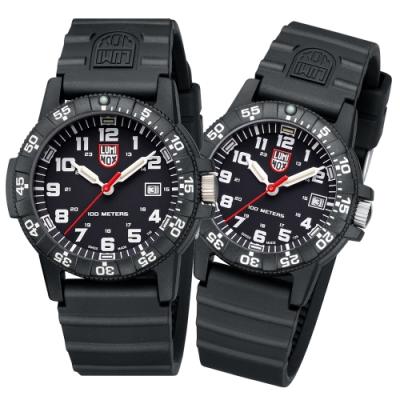 LUMINOX 雷明時SEA TURTLE 0320海龜系列對錶-黑x白 39mm/44mm