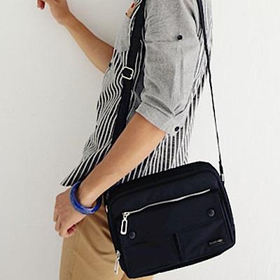 BuyGlasses 吉田風雙口袋帆布側背包