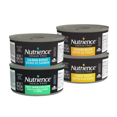 【48入組】Nutrience紐崔斯 SUBZERO頂級無穀貓罐系列 85g(3oz) 購買第二件贈送寵鮮食零食*1包