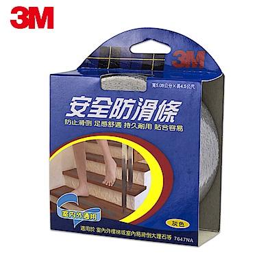 【3M】7647NA 安全防滑條室內外通用-灰(5.08CMx4.5M)