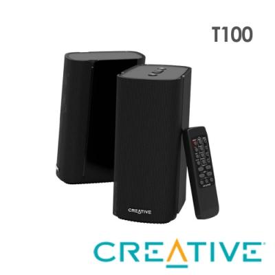 Creative T100 Hi-Fi 2.0 桌面二件式喇叭
