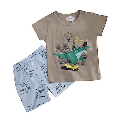 恐龍印花短袖套裝 k51125 魔法Baby