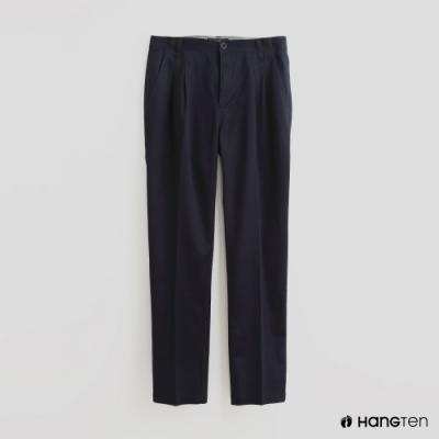Hang Ten - 男裝 - 素面鈕扣休閒長褲 - 藍