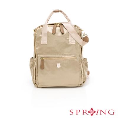SPRING-經典質感系列3way尼龍後背包-優雅米