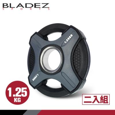 【BLADEZ】OP1-PU灰色奧林匹克包膠槓片-1.25KG(二入組)