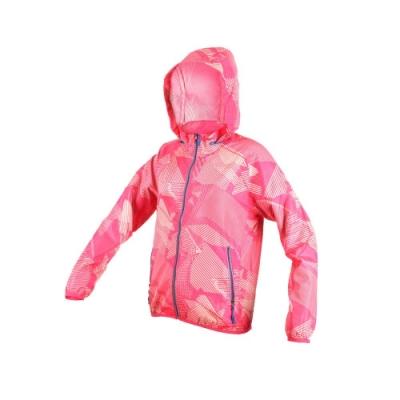 SOFO 女風衣外套-長袖外套 立領外套 連帽 可收納 防風 亮桃紅