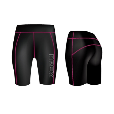 【AREX SPORT】- 女款彈力包覆訓練短褲 中度運動 瑜珈 健身 重訓
