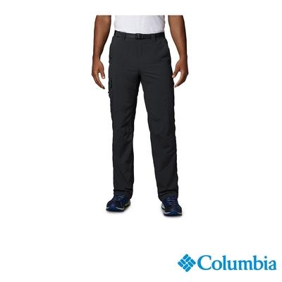 Columbia 哥倫比亞 男款-UPF50快排直筒長褲-黑色 UAM80070BK